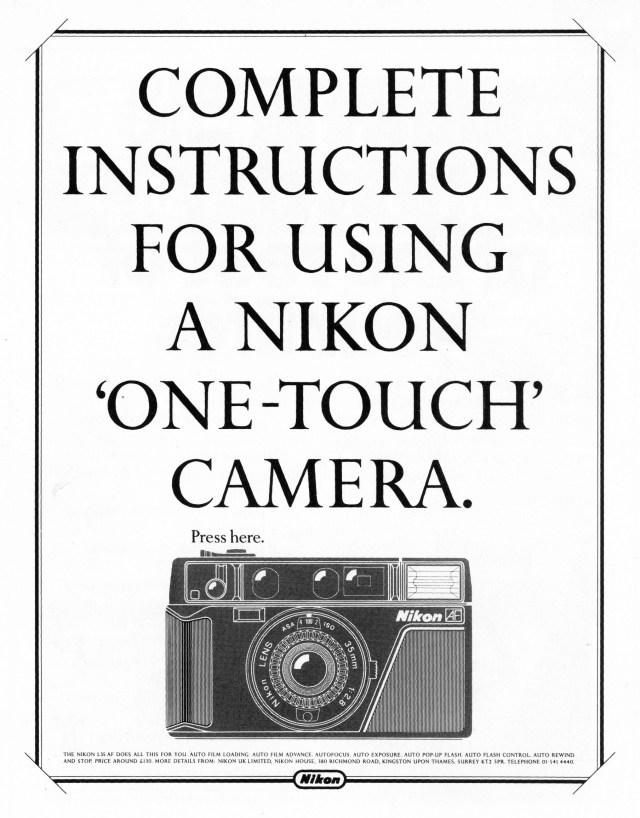 'Press Here' Nikon, Mark Reddy, HKR