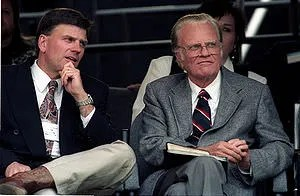 Franklin and Billy Graham, in Cleveland Stadium