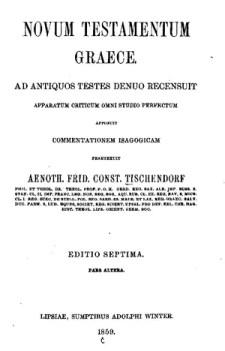 Title page from Tischendorf's Novum Testamentum