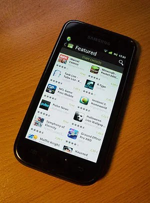 Android Market on Samsung Galaxy S.
