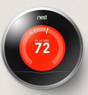 The beautiful Nest thermostat.