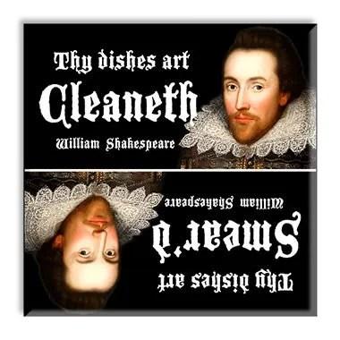 Shakespeare Dishwasher Magnet