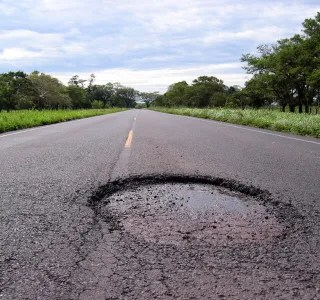 Photo of a Pothole in a Road