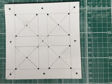 Template. Holes for marking clay with pencil