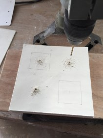 Making drill holes for carving