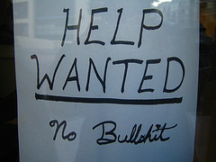 """Help wanted"" sign"