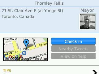 Foursquare location information on SocialScope