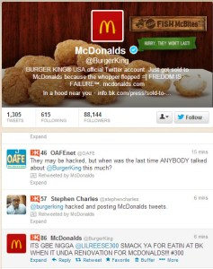 Burger King Twitter Hacking