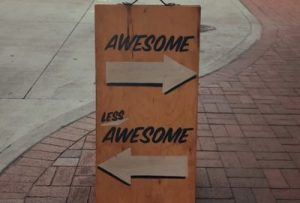 Awesome vs Less Awesome