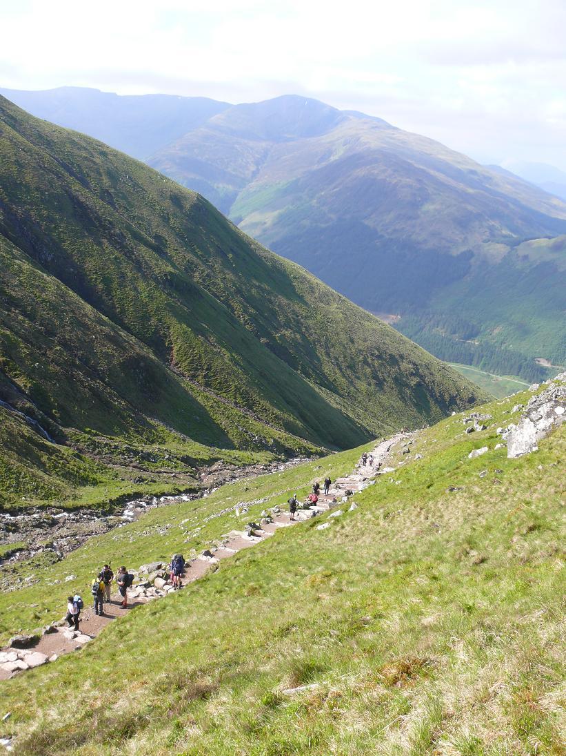 Pilgramage from Glen Nevis to summit of Ben Nevis!
