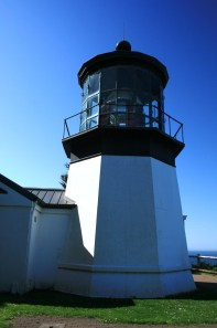 At 38 feet tall Cape Meares in the shortest lighthouse in Oregon.