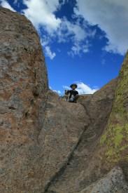 A rock slide!