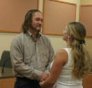 Saying our vows.