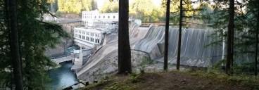 Estacada Dam on the Clackamas River