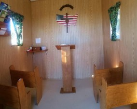 This tiny chapel still holds a lot of weddings.