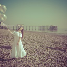 Penarth pier-fine art photography-beach-ballons-model-fashion-dave-holdham-photography-cardiff