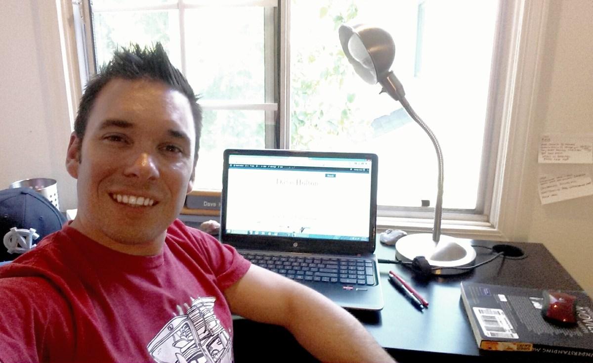 Hard at work at the desk!