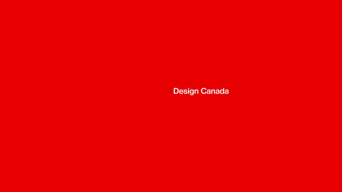 design canada title card