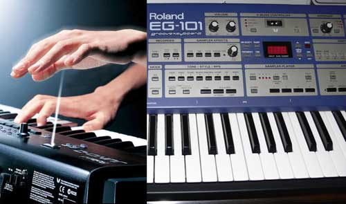 Roland EG-101 and D-Beam Controller