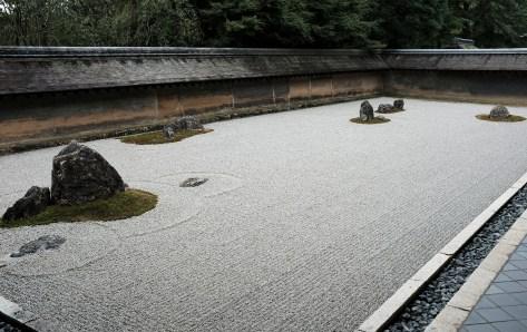 The famous kare-sansui - or 'Rock Garden'