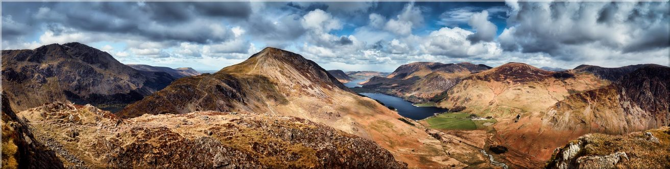 High Crag and Buttermere Panorama - Canvas Prints