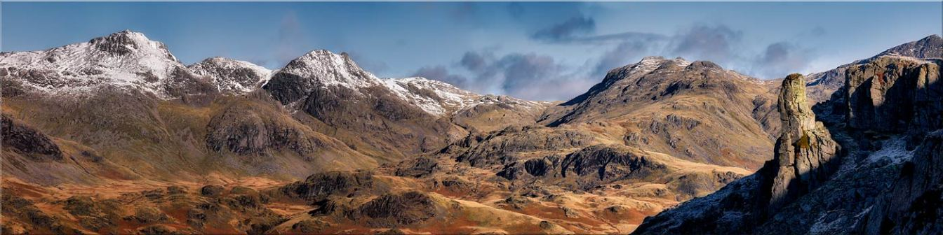 Eskdale Needle and Scafell Panorama - Canvas Prints