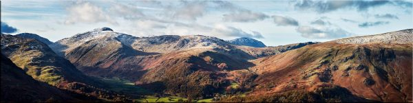 Borrowdale Mountains Panorama - Canvas Print