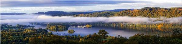 Bowness On Windermere Morning Mists - Canvas Print