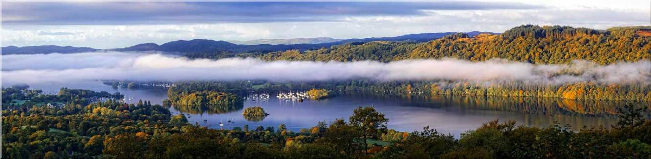 Bowness On Windermere Morning Mists - Canvas Prints