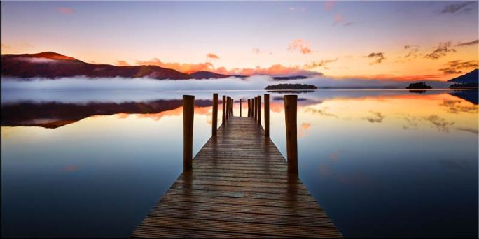 Ashness Jetty Dawn - Canvas Print