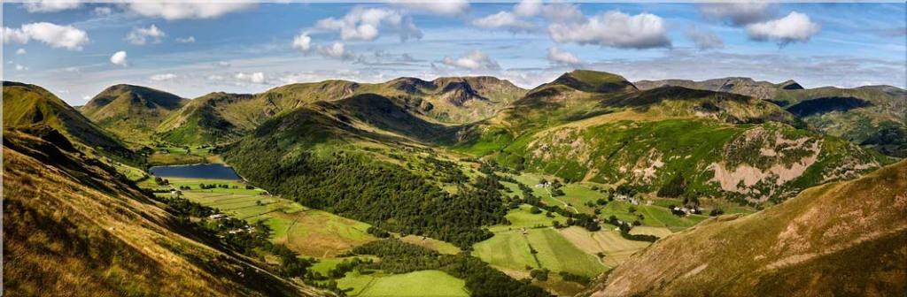 Deepdale and Dovedale Panorama - Canvas