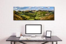 Deepdale and Dovedale Panorama - Canvas Print on Wall