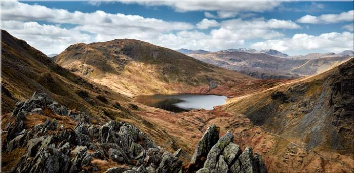 Grisedale Tarn Bowl - Canvas Print