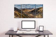 Grisedale Tarn Panorama - 3 Panel Wide Centre Canvas on Wall