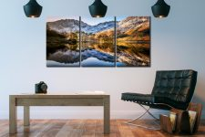 Winter Reflections Buttermere - 3 Panel Canvas on Wall