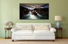 The Dark Fairy Pools - 3 Panel Canvas on Wall