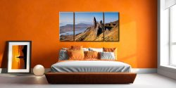 Old Man of Storr Panorama - 3 Panel Wide Centre Canvas on Wall
