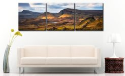 Cleat and Dun Dubh Quiraing - 3 Panel Canvas on Wall