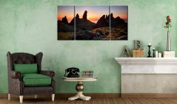 Old Man of Storr Sunrise - 3 Panel Wide Centre Canvas on Wall