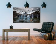 Snow at the Fairy Pools Waterfalls - Canvas Print on Wall
