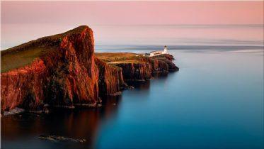Calmness at Neist Point Lighthouse - Canvas Print