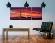 Colourful Hebredies Sunset - 3 Panel Canvas on Wall
