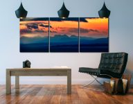 Dawn Over Mountains of Wester Ross - 3 Panel Canvas on Wall