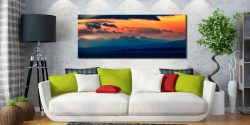 Dawn Over Mountains of Wester Ross - Canvas Print on Wall