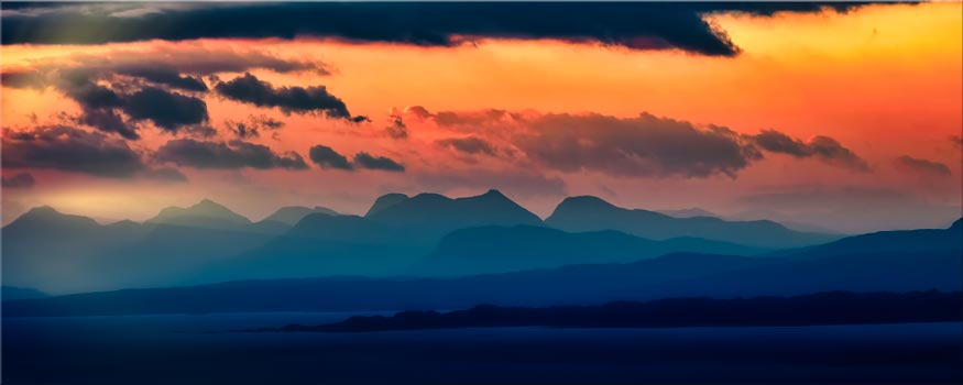 Dawn Over Mountains of Wester Ross - Canvas Print