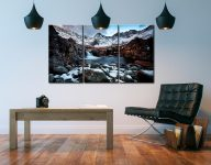 Spring Snow Fairy Pools - 3 Panel Canvas on Wall