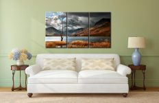 The Buttermere Tree - 3 Panel Canvas on Wall
