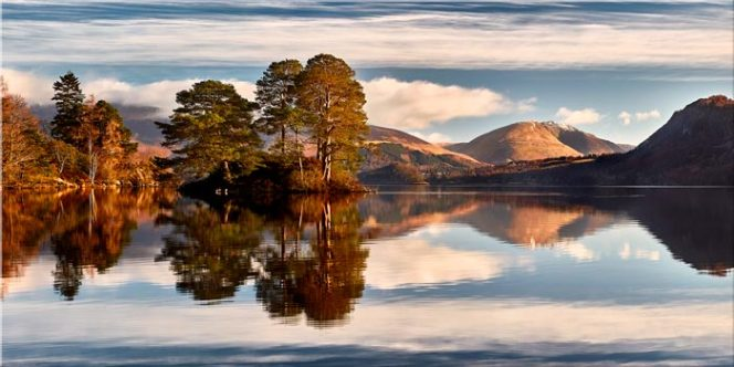 Otter Island in Derwent Water - Canvas Print