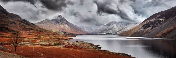 Dark Skies Over Wast Water - Canvas Prints Print