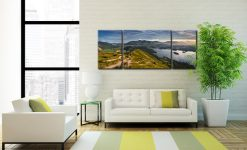 Cat Bells Panoramic View  - 3 Panel Wide Mid Canvas on Wall